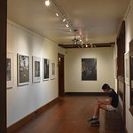 The temporary photography exhibit upstairs
