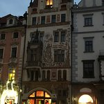 Baroque house with painting of St. Wenceslas in the old town Prague