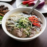 Pho with brisket and steak beef