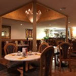 This is inside the restaurant, nice and cosy