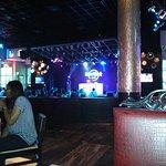 Having fun at the Hard Rock Cafe