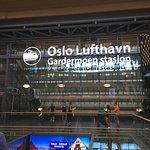 Oslo Airport, near train boarding area