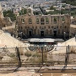 The view from behind the Odeon of Herodes Atticus.