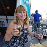 Wife enjoying a beer