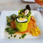 Mango Crab Salad Hand Rolls