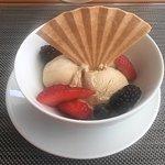 Ice Cream vanilla, chocolate, coffee, macadamia nut
