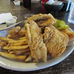 Catfish Plate with the fries and toast. Delicious!!