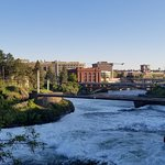 West side of the Spokane skyline & river