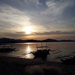 Sunset at White Beach Island