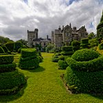East view of the house across the main topiary garden