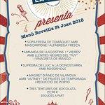 Menú Revetlla Sant Joan 2018