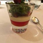 Gariguette Strawberries, Pannacotta and Shiso