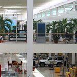 Mall from upper level at 11 am on a weekday.
