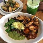 Ancient Grains Bowl, Charred Cauliflower, Kale Aid