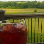 Enjoying the view with a summertime Sangria!