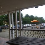 Large carpark and outdoor eating area ..