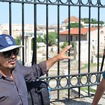 Jimmy, guide, in front of Roman Agora