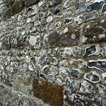 flint wall of church