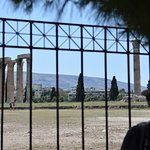 Jimmy, guide, in front of Temple of Zeus