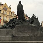 Jan Huss Monument in Old town Prague