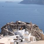 The Byzantin castle on a rock in Oia
