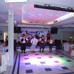 The Greek musical band and the dancers of Tavern Dimitris