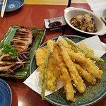 Grill Squid and Tempura