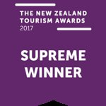 Proud Supreme Winners of the New Zealand Tourism Awards 2017