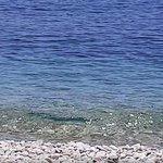 Livadia Beach outside Hotel Eleni mid day