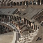"""The """"seating"""" at the Colosseum"""