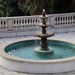 Fountain in courtyard of hotel.