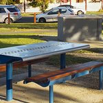 Picnic table and BBQ