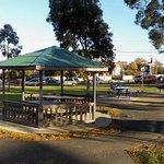 Rotunda and picnic tables beyond