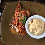 Grouper and Gouda Grits