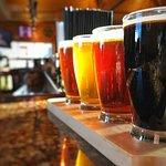 Flight of Divots handcrafted beers