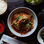 Roasted yellow duck curry