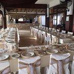 a hessian wedding reception