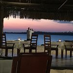 Sunset at the restaurant