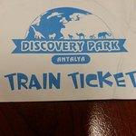 В качестве подтверждения прихватил с собой билет на паровозик из этого парка, который давали дет