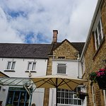 View of the cafe from the courtyard - plenty of seating outside