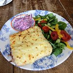 Croque Monsieur with salad
