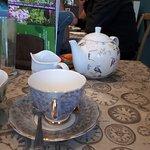 Lovely tea in a proper pot!