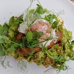 SMASHED AVOCADO breakfast - delicious and a nice change!