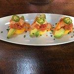 Causa with ahi tuna and avocado