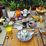 Breakfast on the rooftop - delicious!