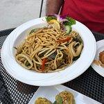 seafood noodle dish
