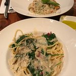 Spaghetti al Limone and Risotto ai Frutti di Mare