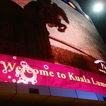 Many LED advertisement boards; retail and restaurant shops make the area Kuala Lumpur's version