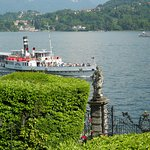 Approaching the villa by water taxi on the Lake Como steamer ship Concordia