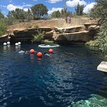 This is the Blue Hole that is more for scuba diving. Just east of water park.